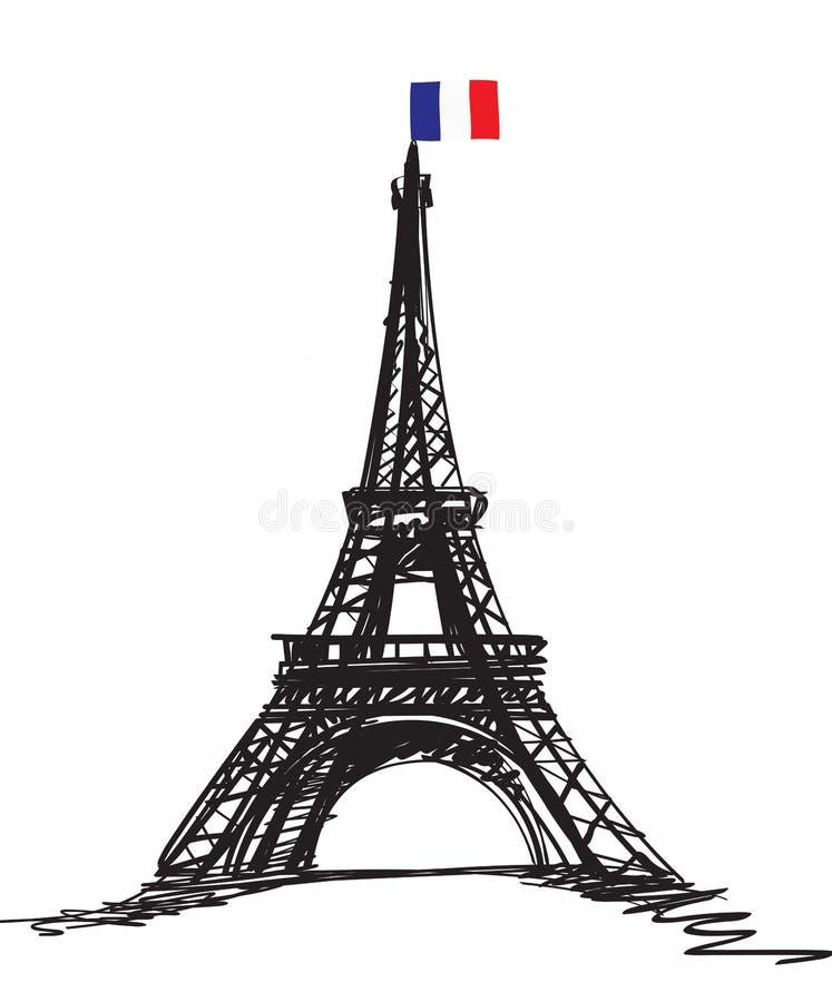 Eifel illustration royalty free stock photography