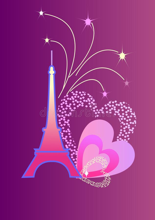 Download Eifel Tower stock vector. Image of building, contour - 26951466