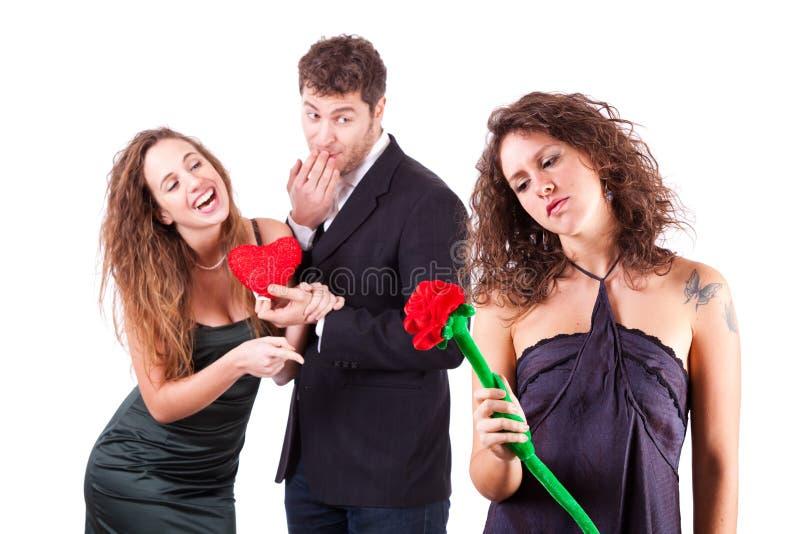 Eifersüchtige Frau lizenzfreie stockfotos