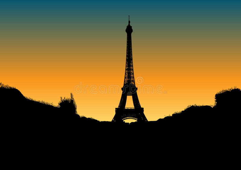 Download Eiffel stock vector. Image of dark, landmark, famous - 20725811