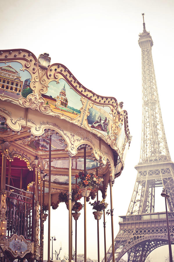 Free Eiffel And Carousel Stock Image - 31095711
