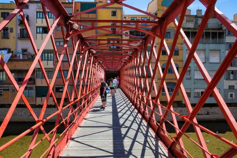 Eiffel Bridge, Girona, Spain stock photos