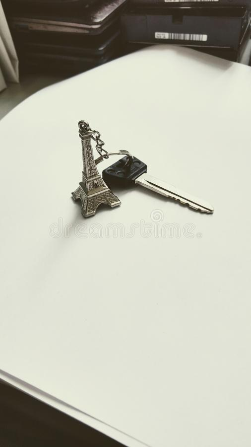 Eiffel chiave immagine stock