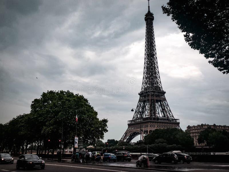 eiffel france paris torn royaltyfria bilder