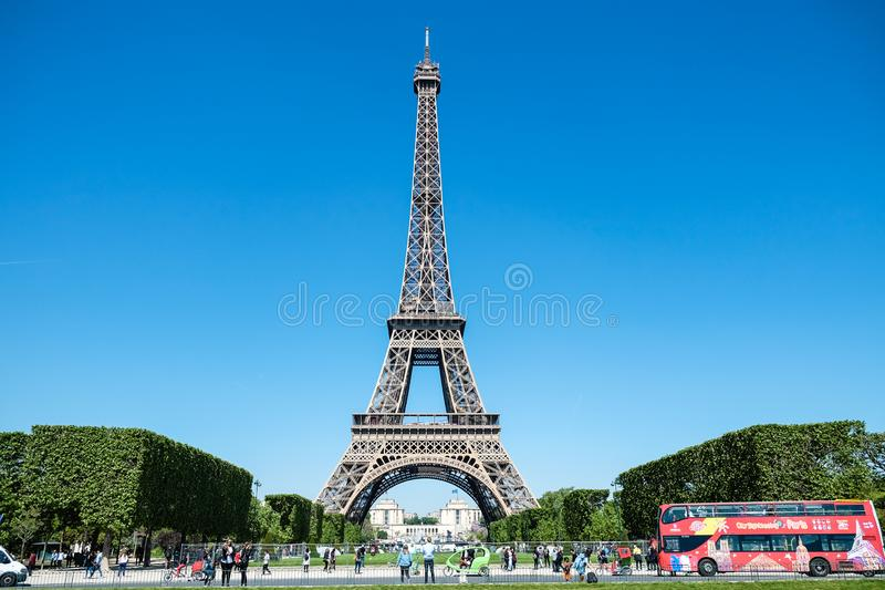 eiffel france paris torn royaltyfria foton