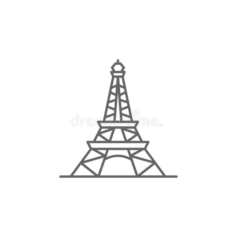 Eiffel, France, tower icon. Element of Paris icon. Thin line icon for website design and development, app development stock illustration