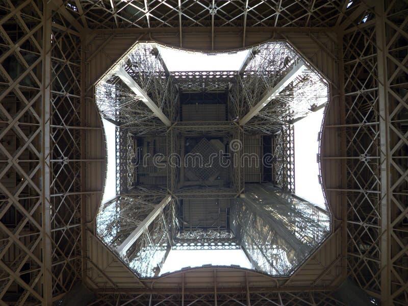 eiffel inom tornsikt royaltyfri fotografi