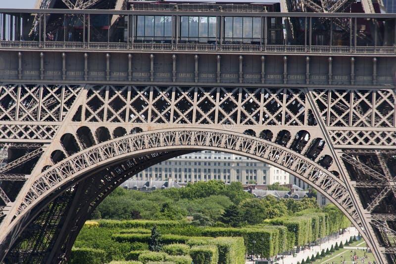 Eiffel najpierw poziom zdjęcia stock