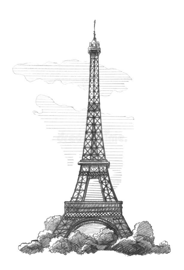 Эйфелева башня, Париж иллюстрация штока