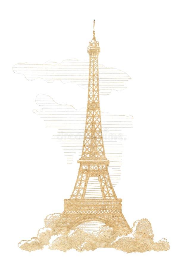 Эйфелева башня, Париж иллюстрация вектора
