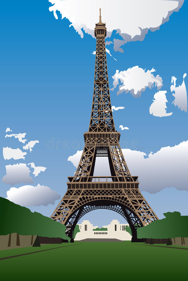 eiffel paris torn vektor illustrationer