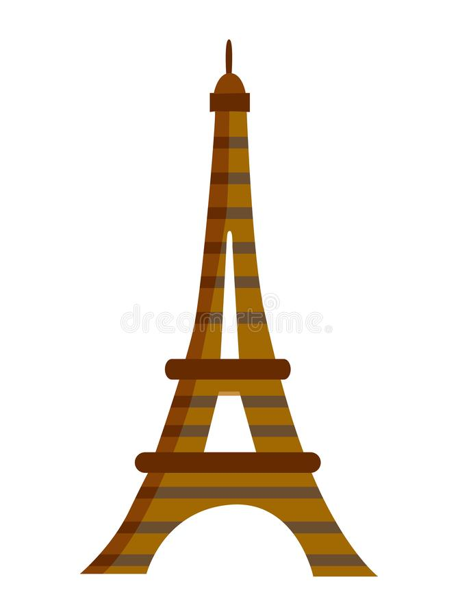 eiffel paris torn europeisk landmark royaltyfri illustrationer