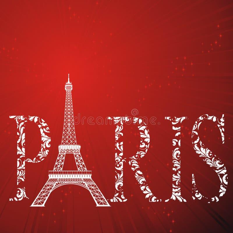 eiffel Paris znaka wierza ilustracji
