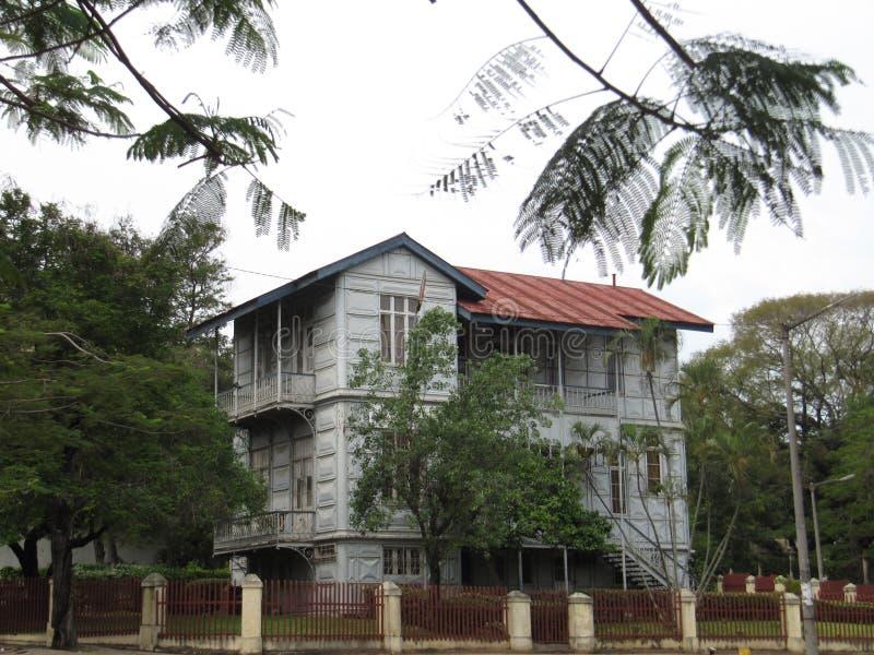 Eiffel & x27; s steel house in Maputo stock photography