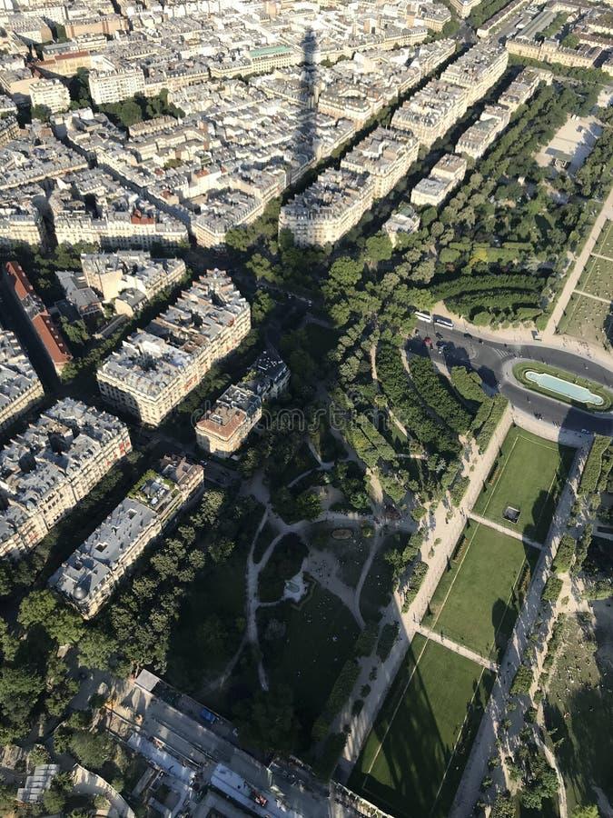 Eiffel Shadow stock image