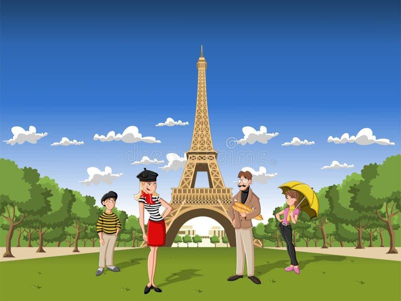 Eiffel står hög royaltyfri illustrationer