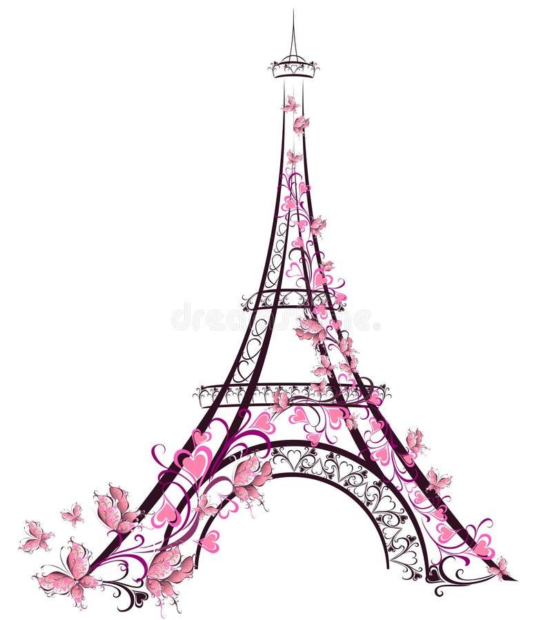Eiffel står hög, Paris, Frankrike royaltyfri illustrationer