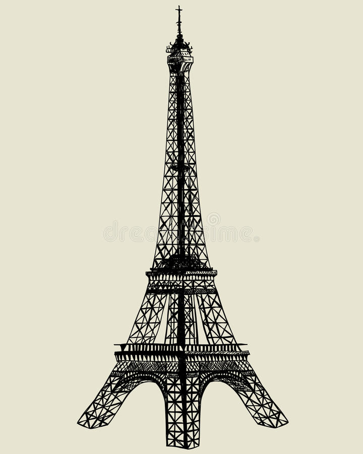 eiffel torn stock illustrationer