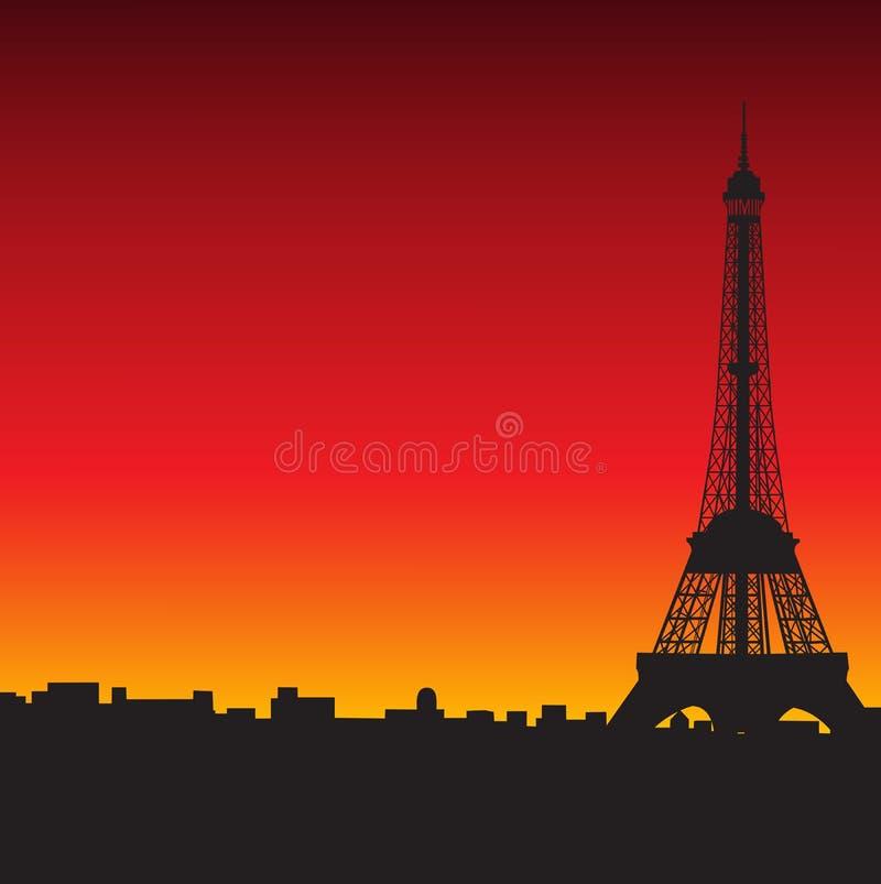 Eiffel torn stock illustrationer