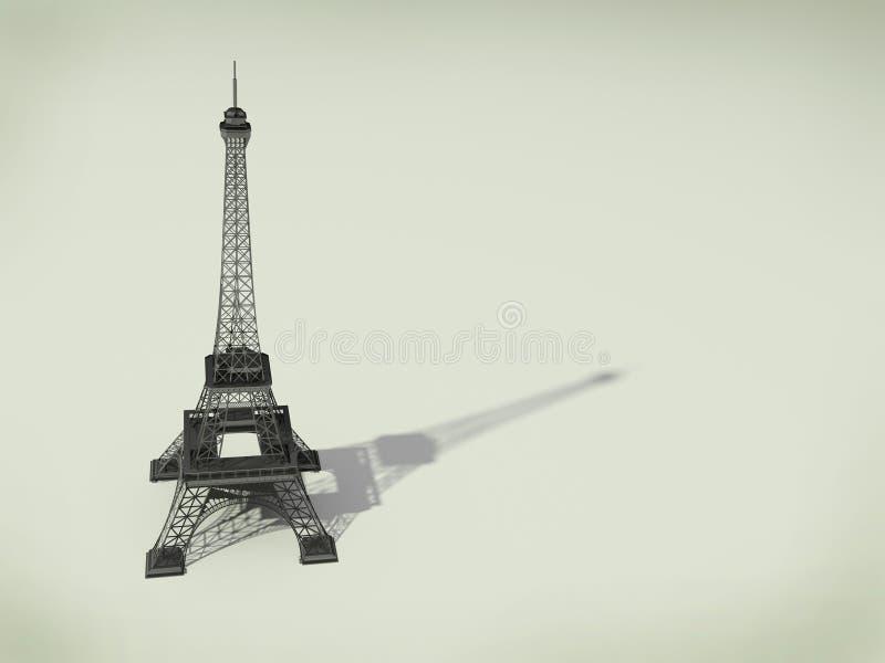 Eiffel torn i Paris royaltyfri illustrationer