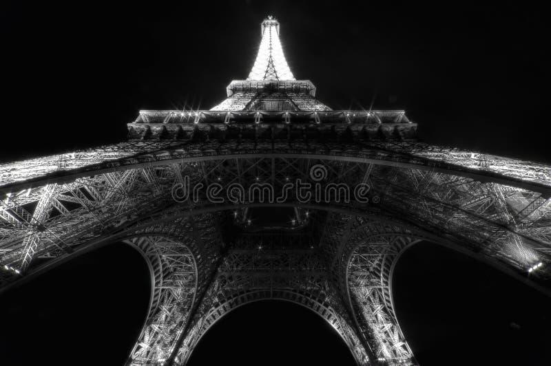 Eiffel torn vid natt royaltyfri foto