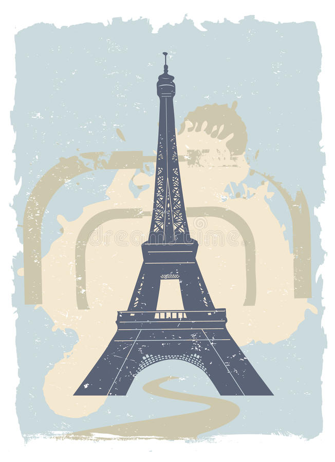 Download Eiffel tower stock vector. Illustration of trip, tourism - 14342412
