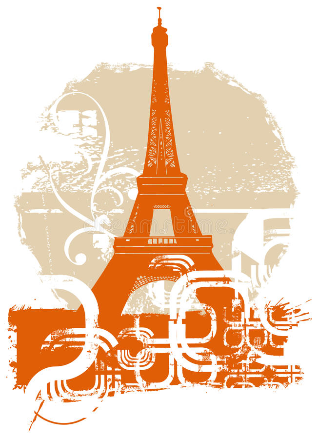 Download Eiffel tower stock vector. Illustration of france, grey - 14441753