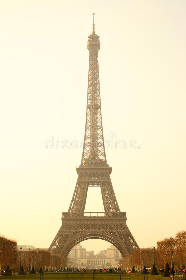Download Eiffel tower stock photo. Image of romantic, silhouette - 19019992