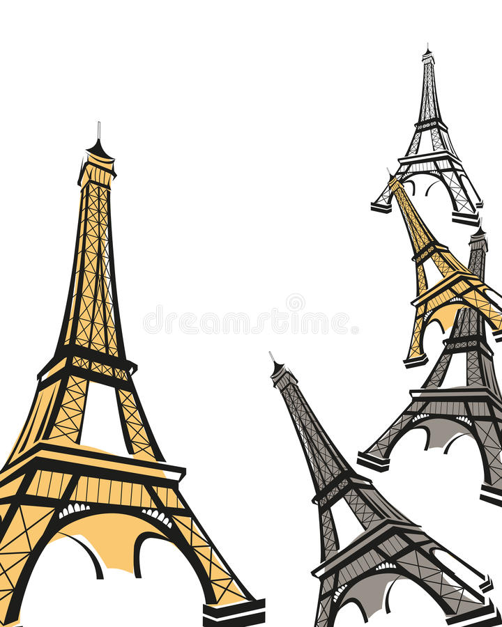 Download Eiffel Tower stock vector. Image of illustration, europe - 19940948