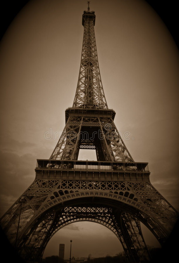 Download Eiffel Tower stock photo. Image of france, cloud, national - 2033236
