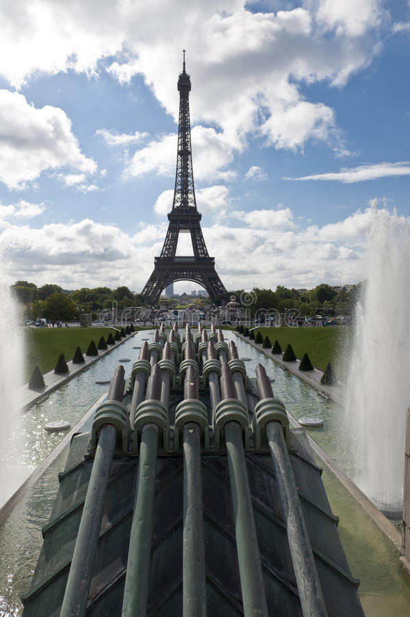 Download Eiffel Tower stock image. Image of central, beauty, cloud - 21164573