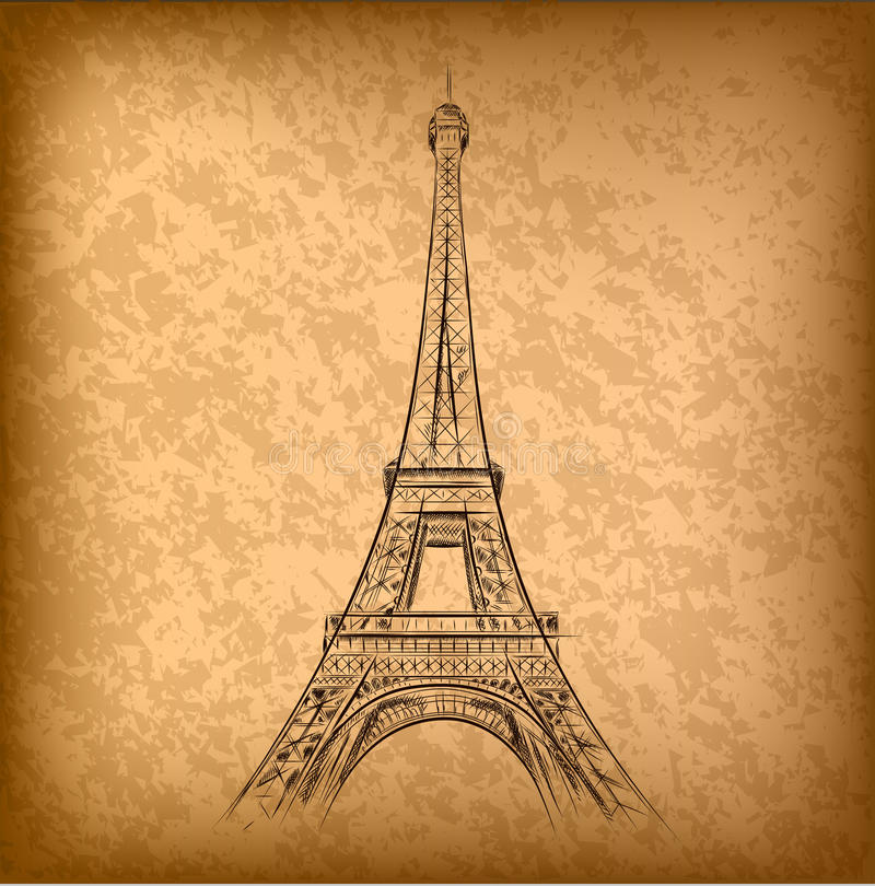 Download Eiffel tower stock vector. Image of steel, monument, construction - 21400730
