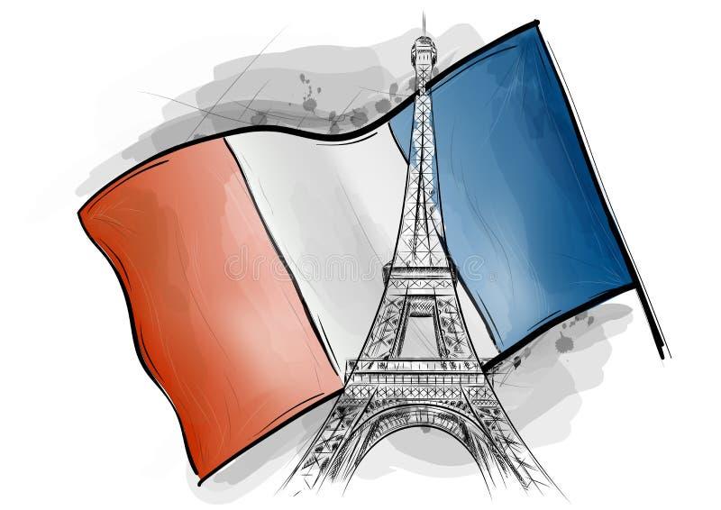 Download Eiffel tower stock vector. Illustration of memorial, beautiful - 21400731