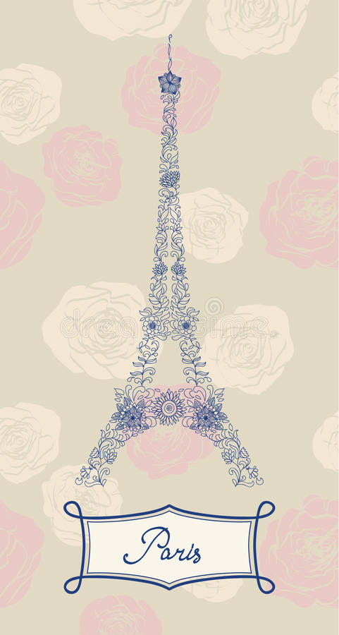 Download Eiffel Tower stock vector. Illustration of graphic, swirl - 22560889