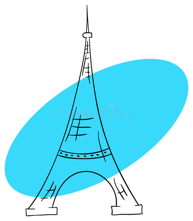 Download Eiffel Tower stock vector. Image of cartoon, isolated - 24857275