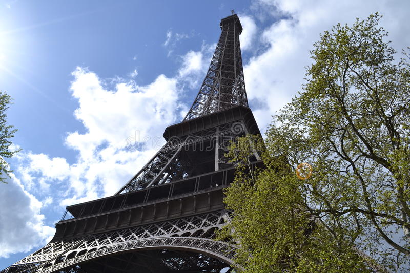 Download Eiffel tower stock photo. Image of clouds, turism, france - 24903866