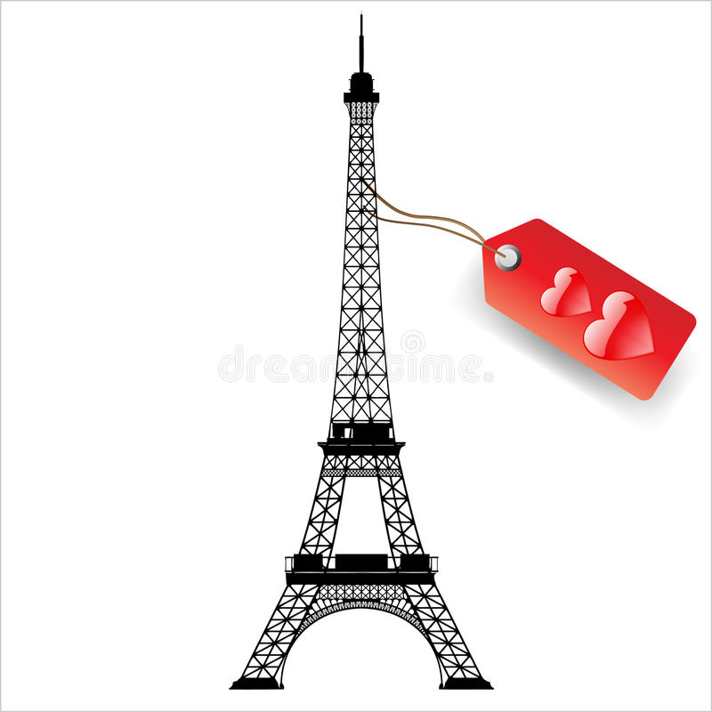 Download Eiffel tower stock illustration. Image of construction - 25015018