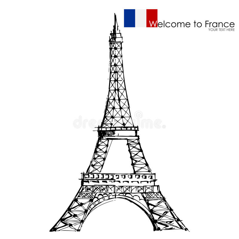 Download Eiffel Tower stock vector. Image of isolated, attraction - 26241167