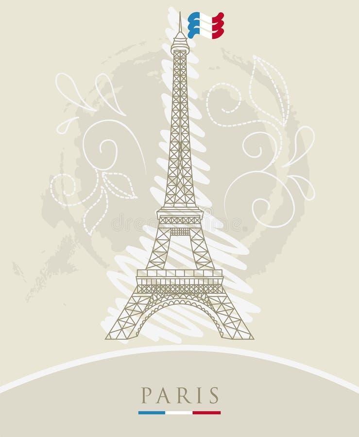 Download Eiffel tower stock vector. Image of flower, paris, decor - 27046967