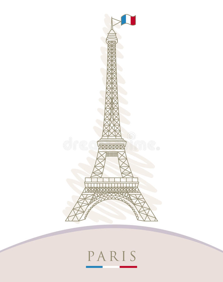 Download Eiffel tower stock vector. Image of famous, flourishes - 27133013