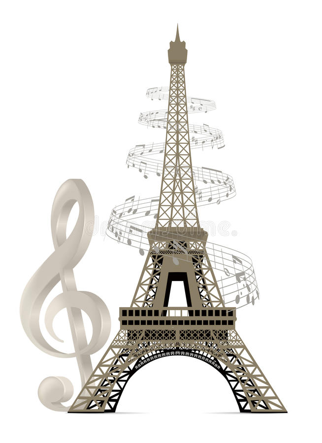 Download Eiffel Tower stock vector. Illustration of decorative - 28727597