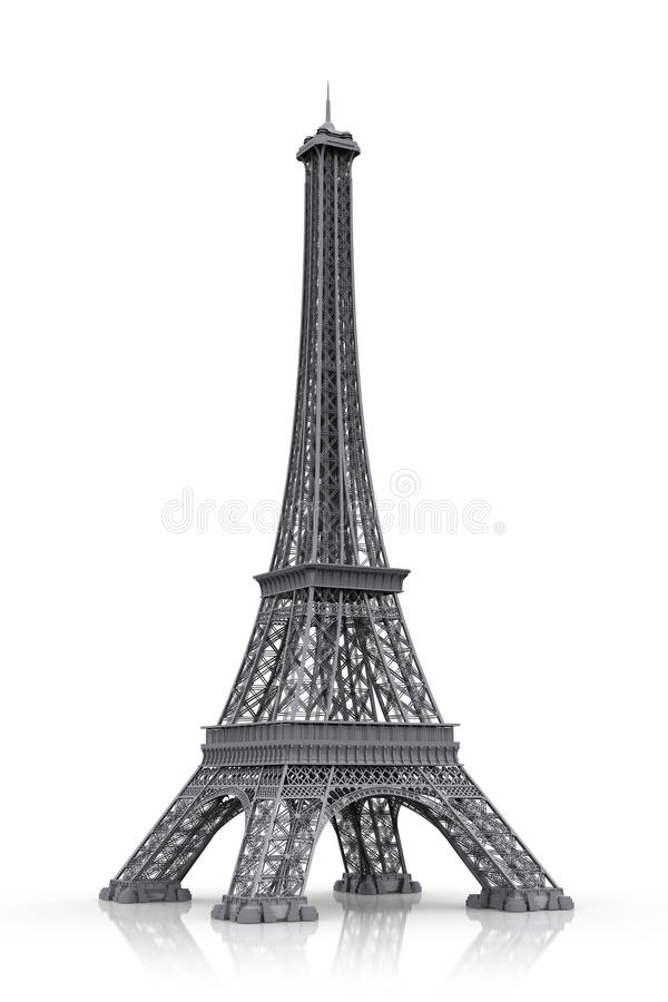 Eiffel tower in 3D icon vector illustration
