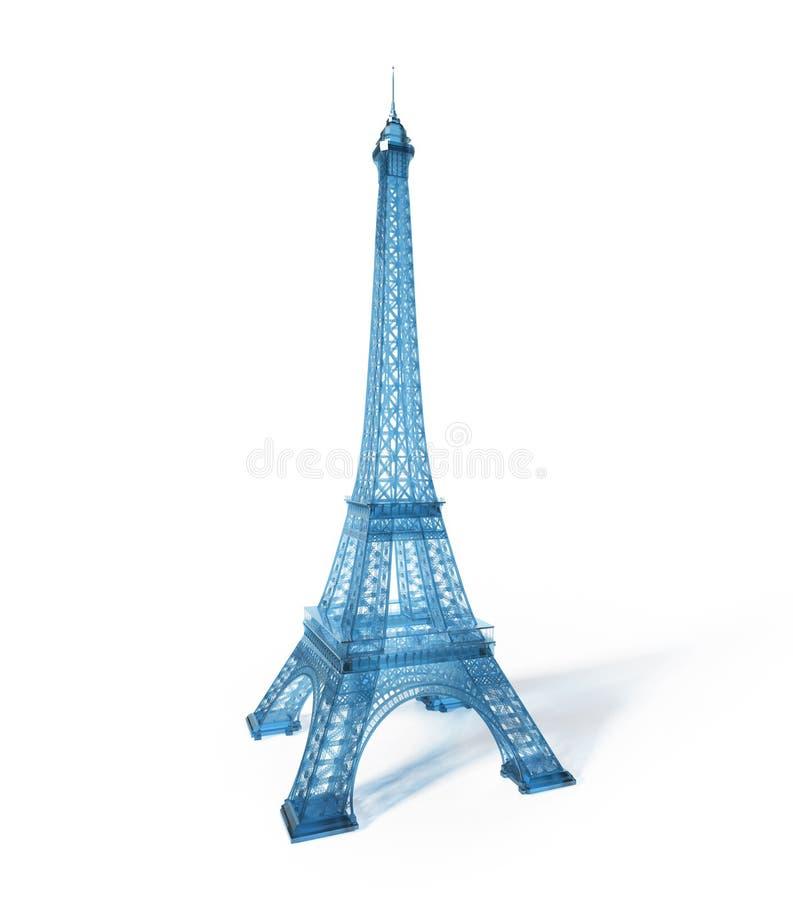 Download Eiffel Tower 3D stock illustration. Illustration of emblem - 29033197