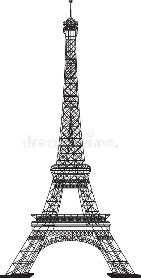 Download Eiffel Tower stock vector. Image of architecture, tall - 4403384