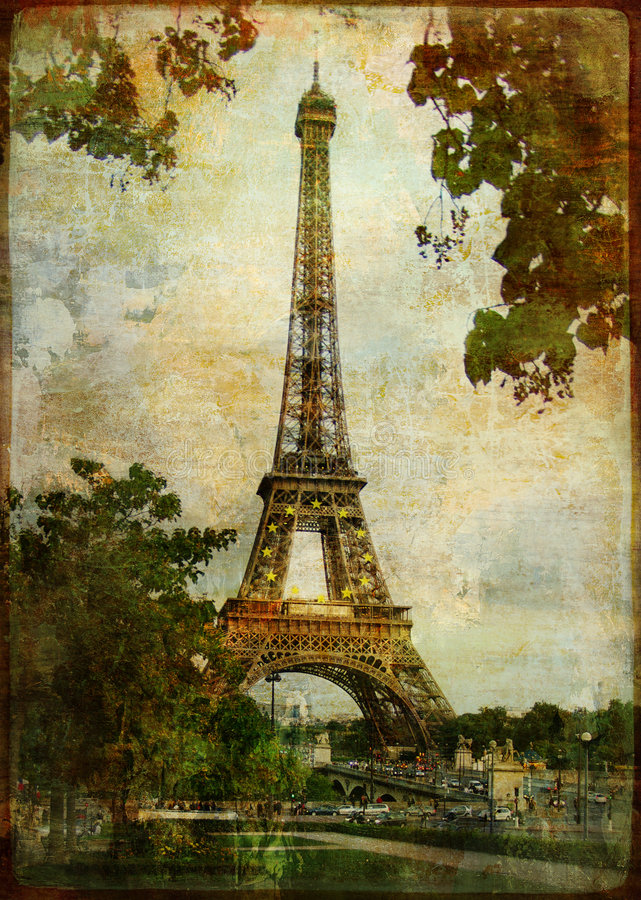 Download Eiffel tower stock illustration. Image of filmstrip, france - 7484385