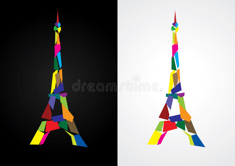 Download Eiffel tower abstract stock vector. Illustration of modern - 15427889