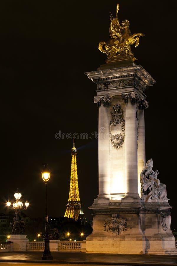 Eiffel Tower and Alexander III bridge. Paris.