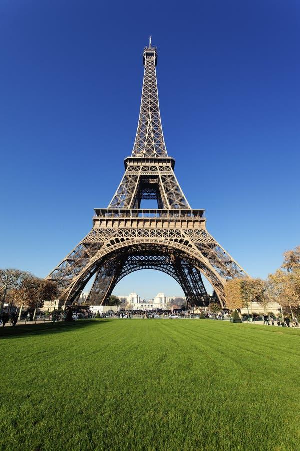 Eiffel tower in autumn stock photos