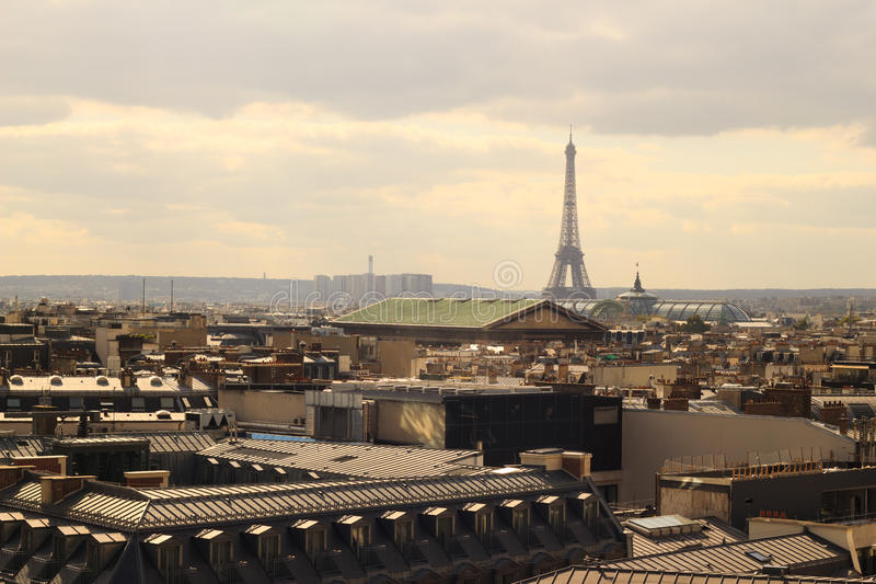 Download Eiffel Tower In The Bird's-eye View Of Paris Stock Photo - Image: 22345750