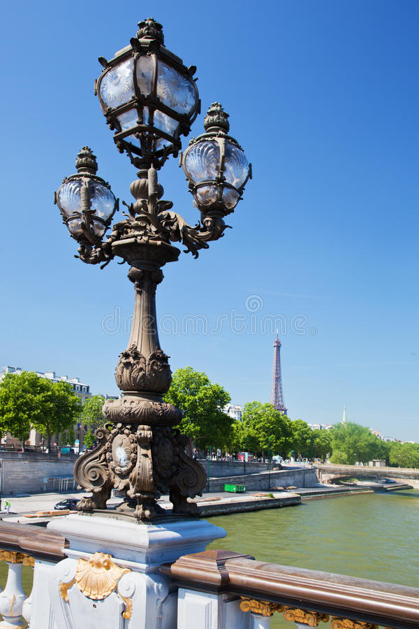 Download Eiffel Tower And Bridge On Seine River In Paris, Fance. Stock Photo - Image: 32158706